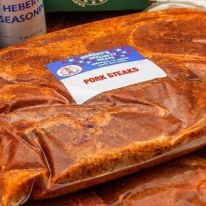 Heberts Specialty Meats Seasoned pork steaks